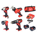 Milwaukee 2695-24 M18 18V Cordless Lithium-Ion 4-Tool Combo Kit