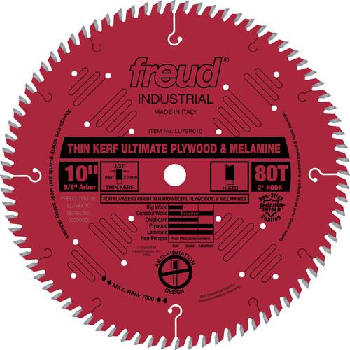 Freud Lu79r010 10 In 80 Tooth Thin Kerf Ultimate Plywood