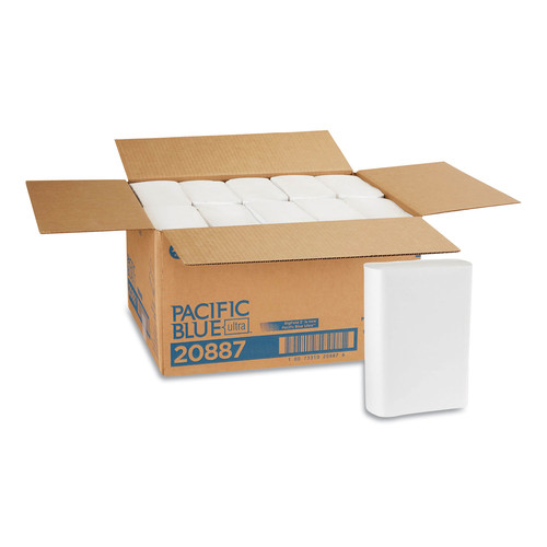 Georgia Pacific Professional 20887 220/Pack 10 Pack/Carton 10-1/5 in. x 4/5 in. Ultra Folded Paper Towels - White image number 0