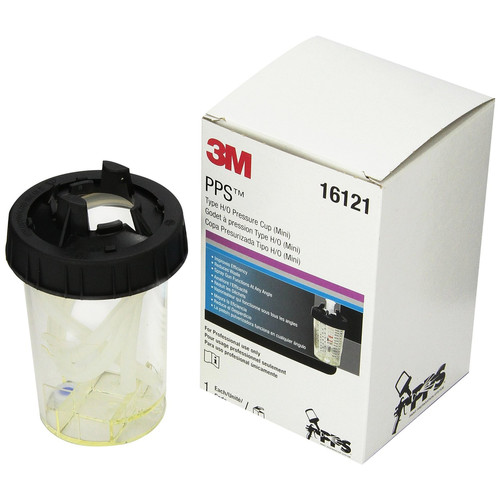 3M 16121 PPS Type H/O Mini Pressure Cup, 6 ounce