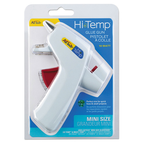 AdTech 0451 Mini Glue Gun High Temp White - 10W