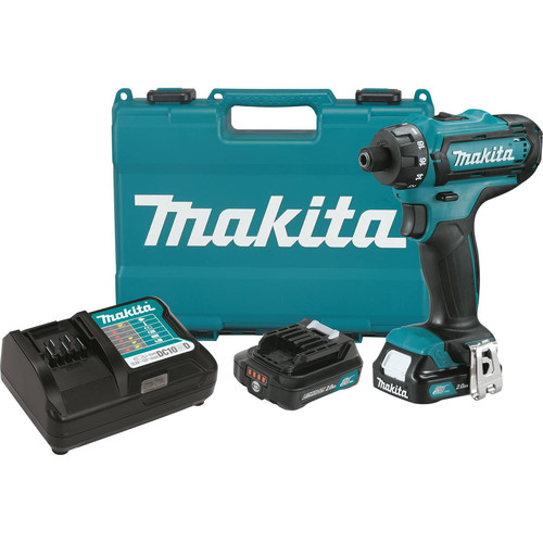 Makita FD06R1 12V max CXT Lithium-Ion Hex 1/4 in. Cordless Drill Driver Kit (2 Ah) image number 0