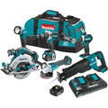 Makita XT611PT 18V LXT 5.0 Ah Lithium-Ion Brushless Cordless 6-Piece Combo Kit image number 0