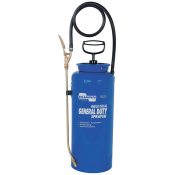 Chapin 1831 Industrial 3 Gallon Open Head General Duty Sprayer with 24 in. Hose - Blue