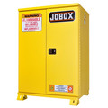 JOBOX 1-854990 30 Gallon Heavy-Duty Self-Closing Safety Cabinet (Yellow) image number 0