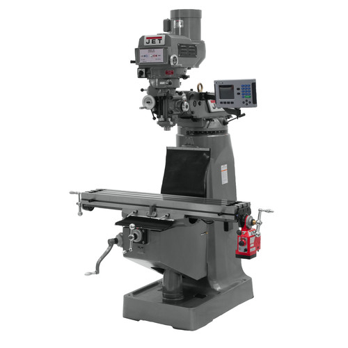 JET JTM-4VS-1 115/230V Variable Speed Milling Machine with 3-Axis ACU-RITE 200S DRO (Knee) and X-Axis Powerfeed image number 0