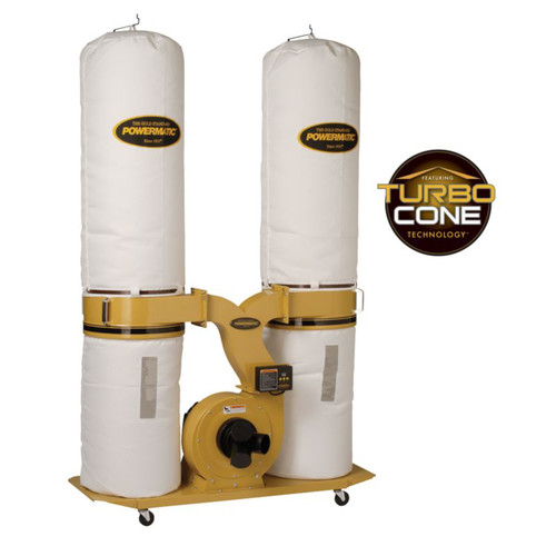 Powermatic PM1300TX-BK1 Dust Collector, 3HP 1PH 230V, 30-Micron Bag Filter Kit