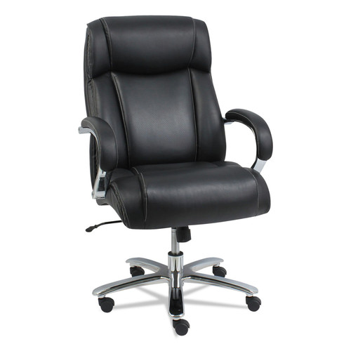 Alera ALEMS4419 Maxxis Series Big And Tall Leather Chair, Black/chrome image number 0