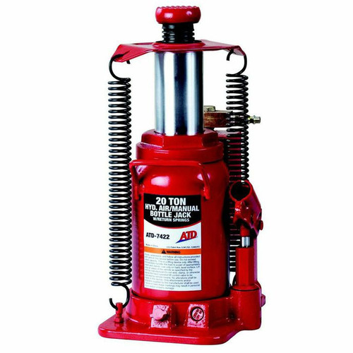 ATD 7422 20 Ton Heavy-Duty Hydraulic Air Actuated Bottle Jack