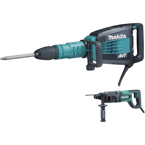Makita HM1214CX 27 lb. AVT Demolition Hammer with Rotary Hammer