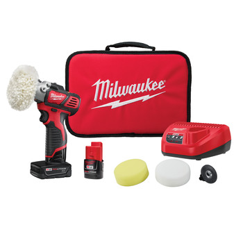 Milwaukee 2438-22X M12 Lithium-Ion Variable Speed Polisher/Sander XC Kit