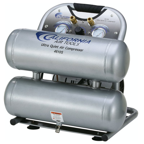 California Air Tools CAT-4610S 1 HP 4.6 Gallon Ultra Quiet Steel Twin Tank Air Compressor image number 0