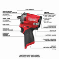 Milwaukee 2555-20 M12 FUEL Stubby 1/2 in. Impact Wrench with Friction Ring (Tool Only) image number 5