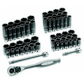 Grey Pneumatic 81659CRD 59-Piece 3/8 in. Drive 6-Point SAE/Metric Standard and Deep Duo-Socket Set image number 0