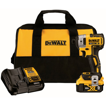 Dewalt DCF887P1 20V MAX XR Lithium-Ion 3-Speed 1/4 in. Cordless Impact Driver Kit (5 Ah)