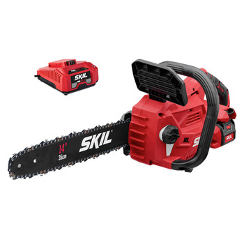 Skil CS4555-10 PWRCore 40 40V Brushless Lithium-Ion 14 in. Cordless Chainsaw Kit (2.5 Ah)