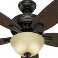 Hunter 54161 56 in. Newsome Premier Bronze Ceiling Fan with Light image number 7