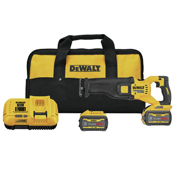 Dewalt DCS389X2 FLEXVOLT 60V MAX Brushless Lithium-Ion 1-1/8 in. Cordless Reciprocating Saw Kit with (2) 9 Ah Batteries