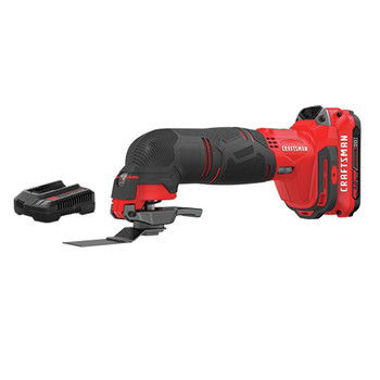 Factory Reconditioned Craftsman CMCE500D1R 20V Variable Speed Lithium-Ion Cordless Oscillating Tool Kit (2 Ah)