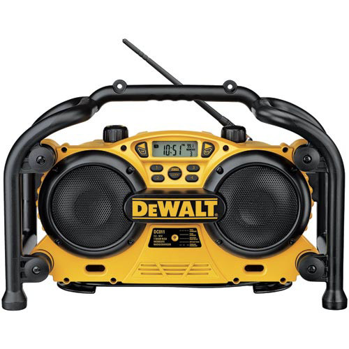 Factory Reconditioned Dewalt DC011R 7.2V-18V Cordless Worksite Radio with Built in. Charger