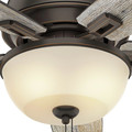 Hunter 53342 52 in. Donegan Onyx Bengal Ceiling Fan with Light image number 5