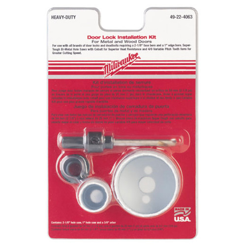 Milwaukee 49-22-4063 Door Lock Installation Kit
