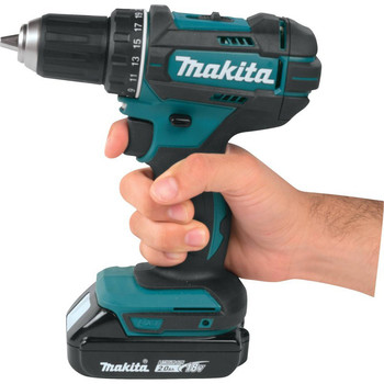 Makita XFD10R 18V LXT Lithium-Ion Compact 1/2 in. Cordless Drill Driver Kit (2 Ah) image number 6