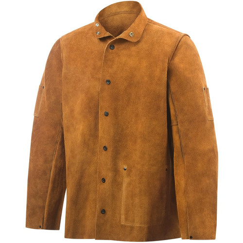 Steiner 9215-M Brown Leather Weld Jacket (Medium)