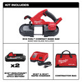 Milwaukee 2829-22 M18 FUEL Lithium-Ion Compact 3-1/4 in. Cordless Band Saw Kit (3 Ah) image number 1