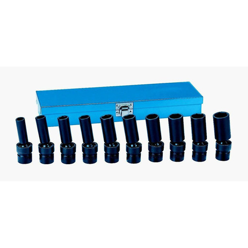Grey Pneumatic 1210UMD 10-Piece 3/8 in. Drive 6-Point Deep Universal Socket Set image number 0