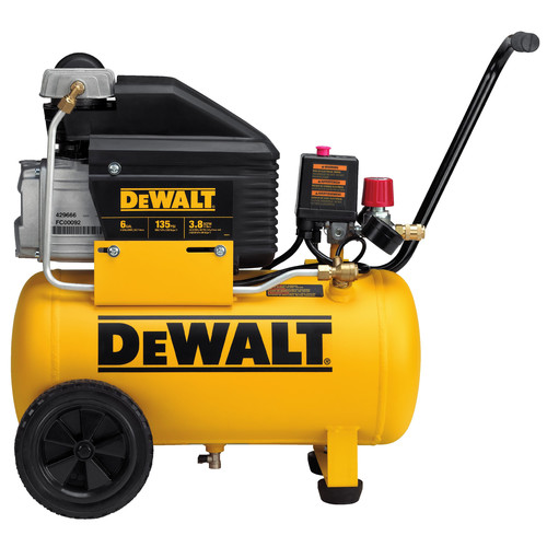 Dewalt D55166R | 6 Gallon Wheeled Horizontal Air Compressor | Tyler Tool
