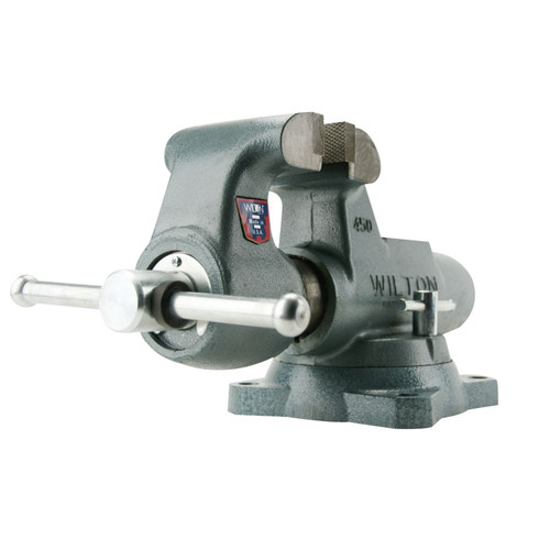 Wilton 10036 800S, Machinists' Bench Vise - Swivel Base, 8 in. Jaw Width, 12 in. Jaw Opening, 5-13/16 in. Throat Depth image number 4