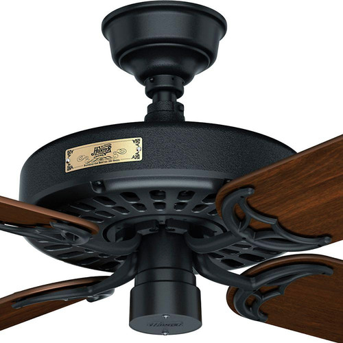 Hunter 23838 52 in. Outdoor Original Black Ceiling Fan image number 4