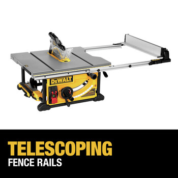 Dewalt DWE7491RS 10 in. 15 Amp  Site-Pro Compact Jobsite Table Saw with Rolling Stand image number 23