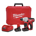 Milwaukee 2412-22XC M12 12V Cordless Lithium-Ion 1/2 in. SDS Plus Rotary Hammer Kit with 2 XC Batteries