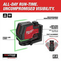 Milwaukee 3521-21 REDLITHIUM USB Rechargeable Green Cross Line Laser image number 2