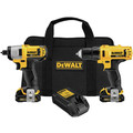 Dewalt DCK211S2 12V MAX 1.5 Ah Cordless Lithium-Ion 3/8 in. Drill Driver and Impact Driver Combo Kit image number 0