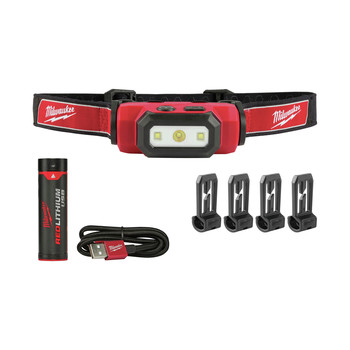 Milwaukee 2111-2111 USB Rechargeable Hard Hat Headlamp 2-Pack Bundle image number 1
