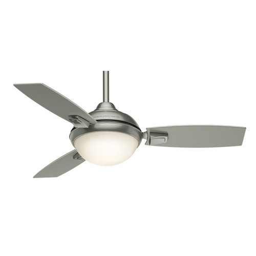 Casablanca 59155 44 in. Verse Satin Nickel Ceiling Fan with Light and Remote