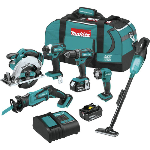Makita XT614SX1 18V LXT Lithium-Ion 6-Piece Cordless Combo Kit (3 Ah) image number 0