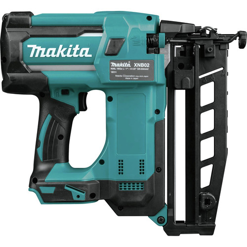 Makita XNB02Z 18V LXT Lithium-Ion Cordless 2-1/2 in. Straight Finish Nailer, 16 Ga. (Tool Only)