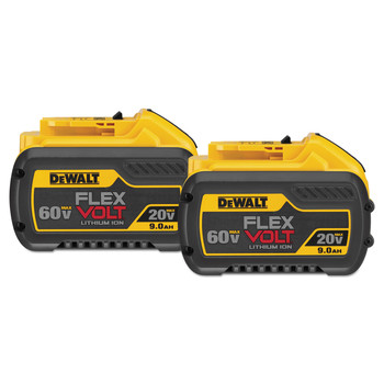 Dewalt DCB609-2 20V/60V MAX FLEXVOLT 9 Ah Lithium-Ion Battery (2-Pack)
