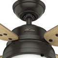 Hunter 59438 52 in. Wingate Noble Bronze Ceiling Fan with Light and Handheld Remote image number 4