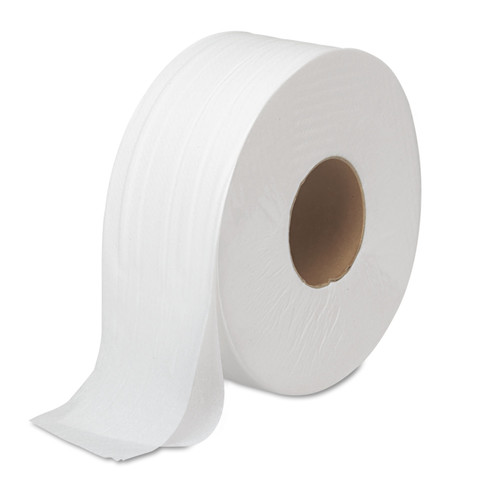 Boardwalk 6100B Jrt Bath Tissue, Jumbo, 2-Ply, White, 1000 Ft/roll, 12 Rolls/carton image number 0