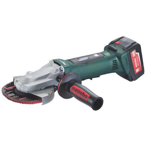 Metabo WPF 18 LTX 125 18V 5.2 Ah Cordless Lithium-Ion 5 in. Non-Locking Flat Head Grinder Kit
