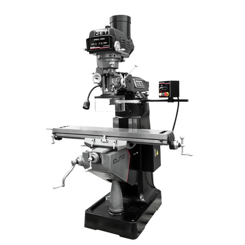 JET 894164 ETM-949 Mill with 3-Axis Newall DP700 (Quill) DRO and X, Y, Z-Axis JET Powerfeeds and USA Made Air Draw Bar image number 0