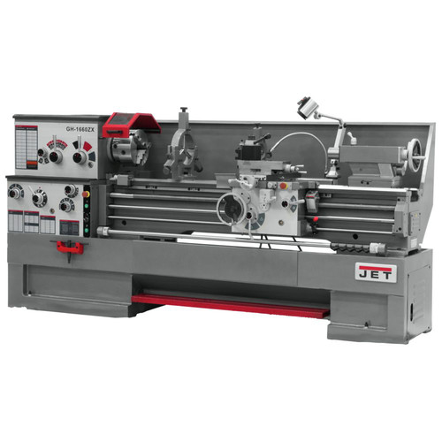 JET GH-1860ZX-TAK Lathe with Taper Attachment Installed