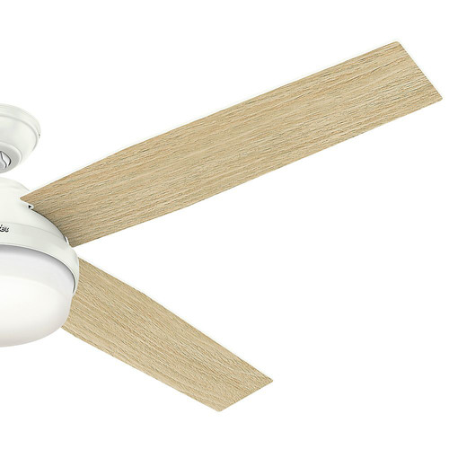 Hunter 59442 60 in. Dempsey with Light Fresh White Ceiling Fan with Light and Handheld Remote image number 7