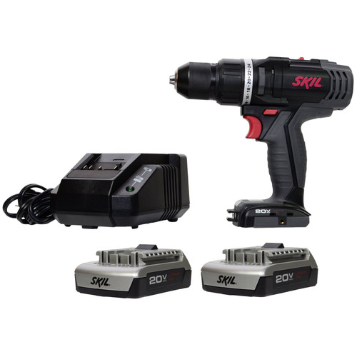 Factory Reconditioned Skil 2899LI-04-RT 20V Max Cordless Lithium-Ion Inteli-Force 1/2 in. Drill Driver Kit