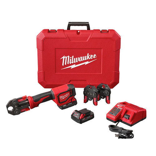 Milwaukee 2674-22C M18 Short Throw Press Tool Kit with PEX Crimp Jaws image number 0